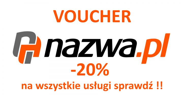 Voucher -20% na wszystkie usługi w nazwa.pl