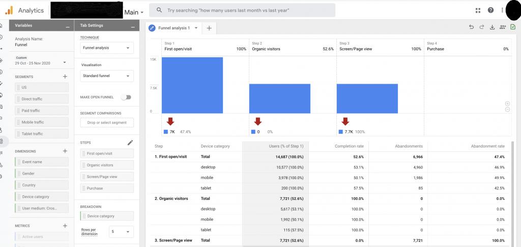 analiza w Google Analytics 4