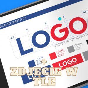 Projektowanie logo + zdjęcie w tle
